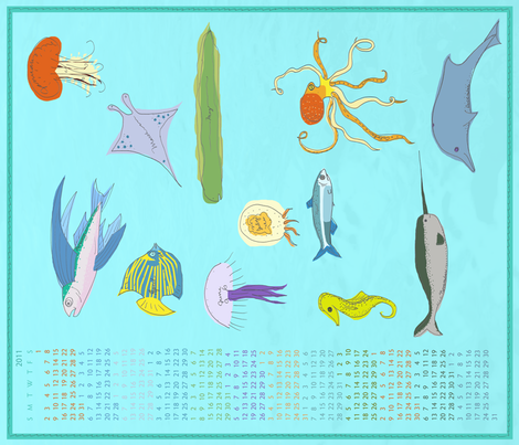 2011 - the year in fishes fabric by lemonadefish on Spoonflower - custom fabric