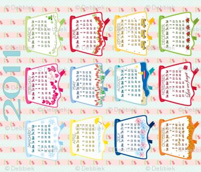 2011 Vintage Aprons Tea Towel Calendar