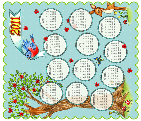 Lovely Day Calendar fabric by mytinystar on Spoonflower - custom fabric