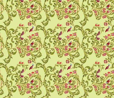 volute_russe_anis fabric by nadja_petremand on Spoonflower - custom fabric
