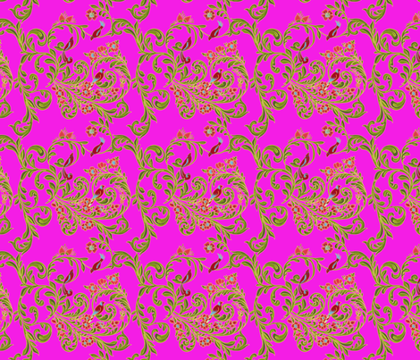 volute_russe_rose fabric by nadja_petremand on Spoonflower - custom fabric