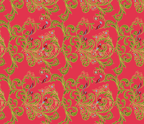 volute_russe_rouge fabric by nadja_petremand on Spoonflower - custom fabric