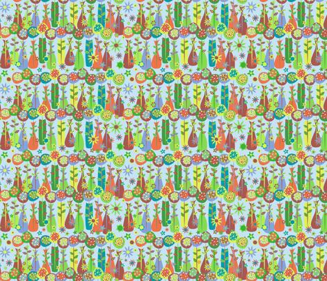 Vase Buddies Mini (blue) fabric by mktextile on Spoonflower - custom fabric