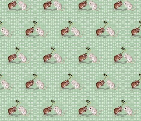 Mistletoe Mice fabric by hauteideas on Spoonflower - custom fabric
