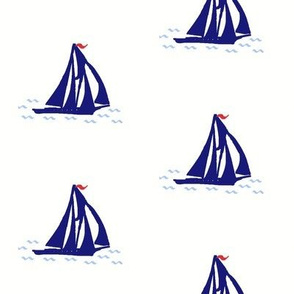 Navy Blue Schooner