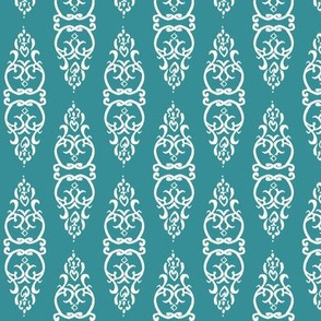 WINDOW teal/white