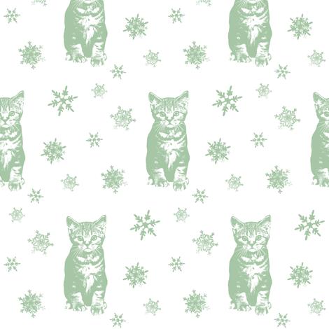 Holly's Snow Daze fabric by hauteideas on Spoonflower - custom fabric