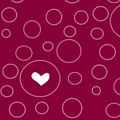 lovepod heart in red
