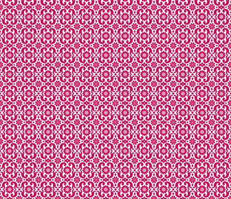 French Red MEDIUM fabric by happysewlucky on Spoonflower - custom fabric