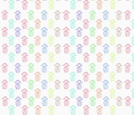 Kokeshi Dolls fabric by woolybumblebee on Spoonflower - custom fabric
