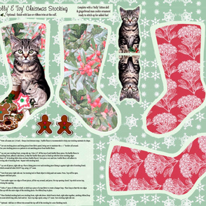 'Holly & Ivy' Christmas Stocking