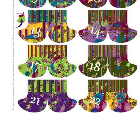 Advent Stocking Garland fabric by oddlyolive on Spoonflower - custom fabric