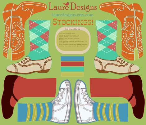 Shoe Stockings fabric by lauredesigns on Spoonflower - custom fabric