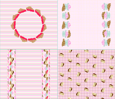 Yum_yum_yum_moms_dish_towel_set_for_quilting_weight_cotton fabric by victorialasher on Spoonflower - custom fabric