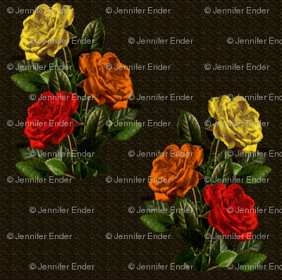 red orange yellow roses