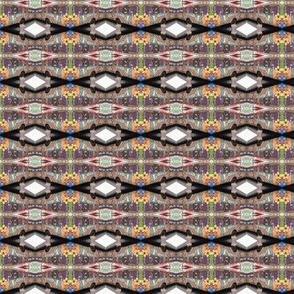 groovy geometric pattern is really a bus