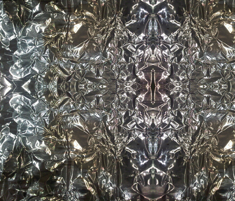 Aluminum Foil fabric by susaninparis on Spoonflower - custom fabric
