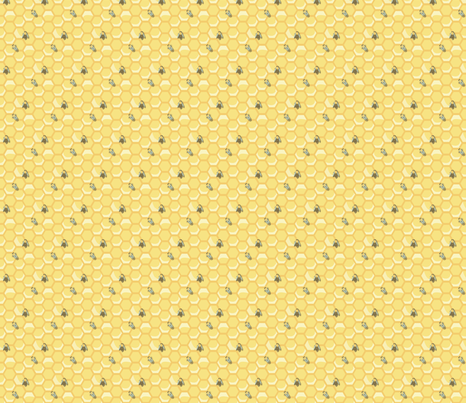 Small Worker Bees fabric by nightgarden on Spoonflower - custom fabric