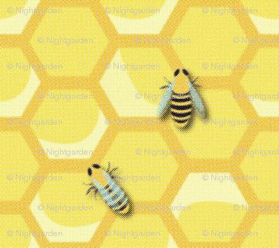 Large Vintage Worker Bees