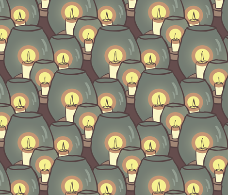 Candles fabric by leeleeandthebee on Spoonflower - custom fabric