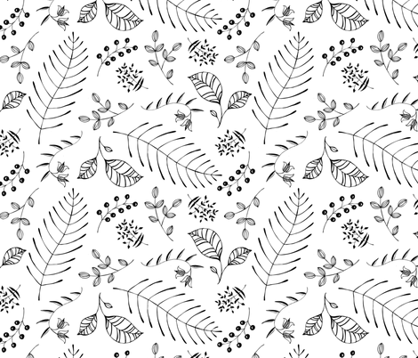 Ebony Flora fabric by pattysloniger on Spoonflower - custom fabric