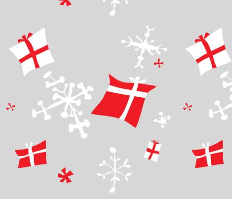 Retro Danish snowflakes and gifts fabric by nicoledobbins on Spoonflower - custom fabric