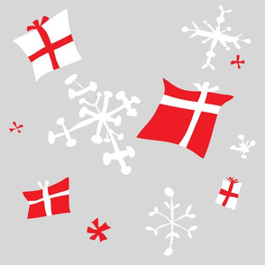 Retro Danish snowflakes and gifts