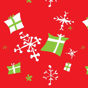 Red w Green presents Snowflakes