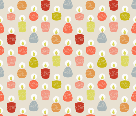 candlespink fabric by stephdevino on Spoonflower - custom fabric