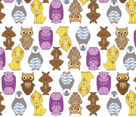 Critters fabric by locamode on Spoonflower - custom fabric
