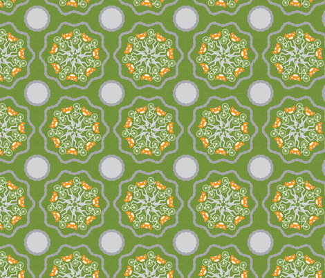 Chain Flower_GG fabric by deesignor on Spoonflower - custom fabric