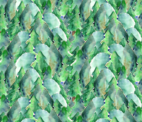 in the wood fabric by nadja_petremand on Spoonflower - custom fabric