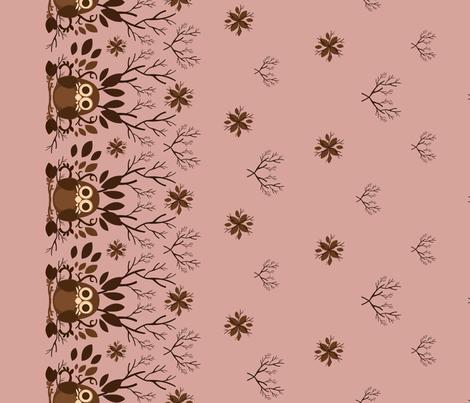 Owl Border fabric by marimuraro on Spoonflower - custom fabric