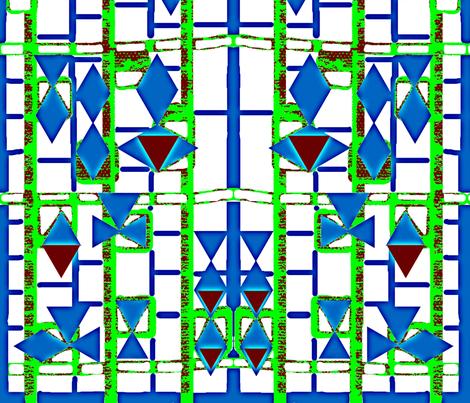 Triangle Grid II fabric by robin_rice on Spoonflower - custom fabric