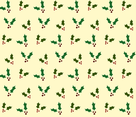 Holly fabric by featheredneststudio on Spoonflower - custom fabric