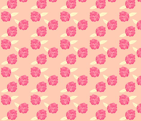 Petite Pink Peony fabric by featheredneststudio on Spoonflower - custom fabric