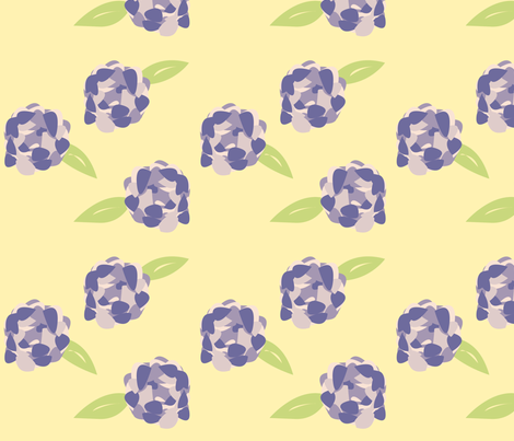 Purple Peony fabric by featheredneststudio on Spoonflower - custom fabric