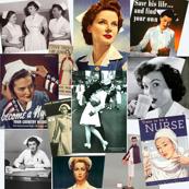 Retro nurses, posters, WW2