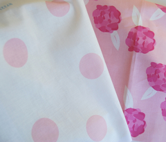 Pink on Cream Polka Dot