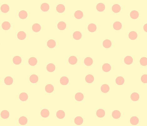 Pink on Cream Polka Dot fabric by featheredneststudio on Spoonflower - custom fabric