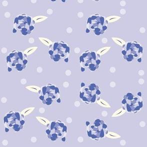 Purple Polka Dotted Peony