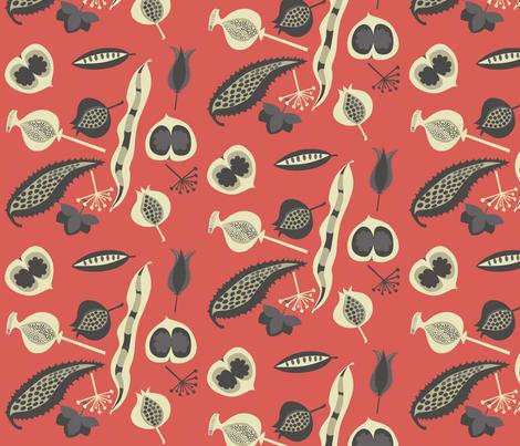 seedy_red fabric by antoniamanda on Spoonflower - custom fabric