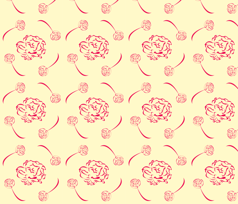 floral_tile_2 fabric by featheredneststudio on Spoonflower - custom fabric