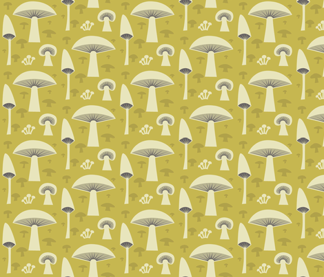 mush_gold fabric by antoniamanda on Spoonflower - custom fabric