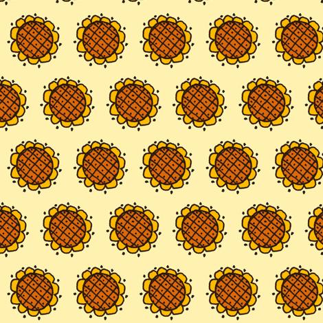 Sunny Flower fabric by siya on Spoonflower - custom fabric
