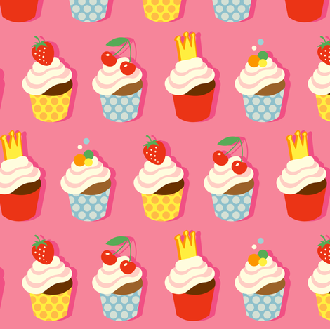 Sweet Cup Cakes fabric by hamburgerliebe on Spoonflower - custom fabric
