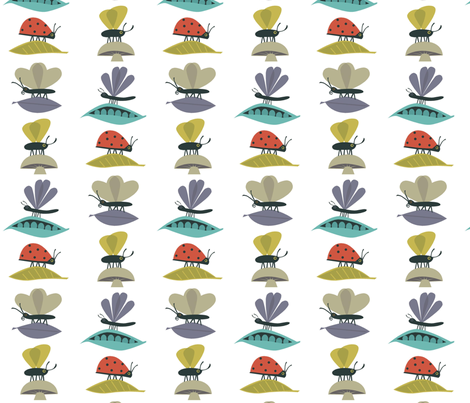 bugs3 fabric by antoniamanda on Spoonflower - custom fabric