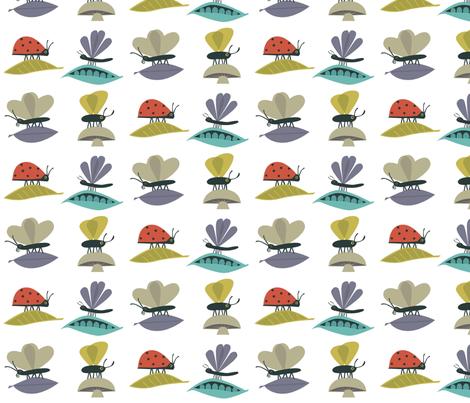 bugssquare fabric by antoniamanda on Spoonflower - custom fabric