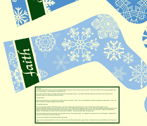 Snowflake Stockings fabric by patchinista on Spoonflower - custom fabric