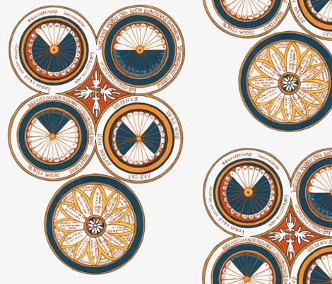 Calendar fabric by dandelion on Spoonflower - custom fabric